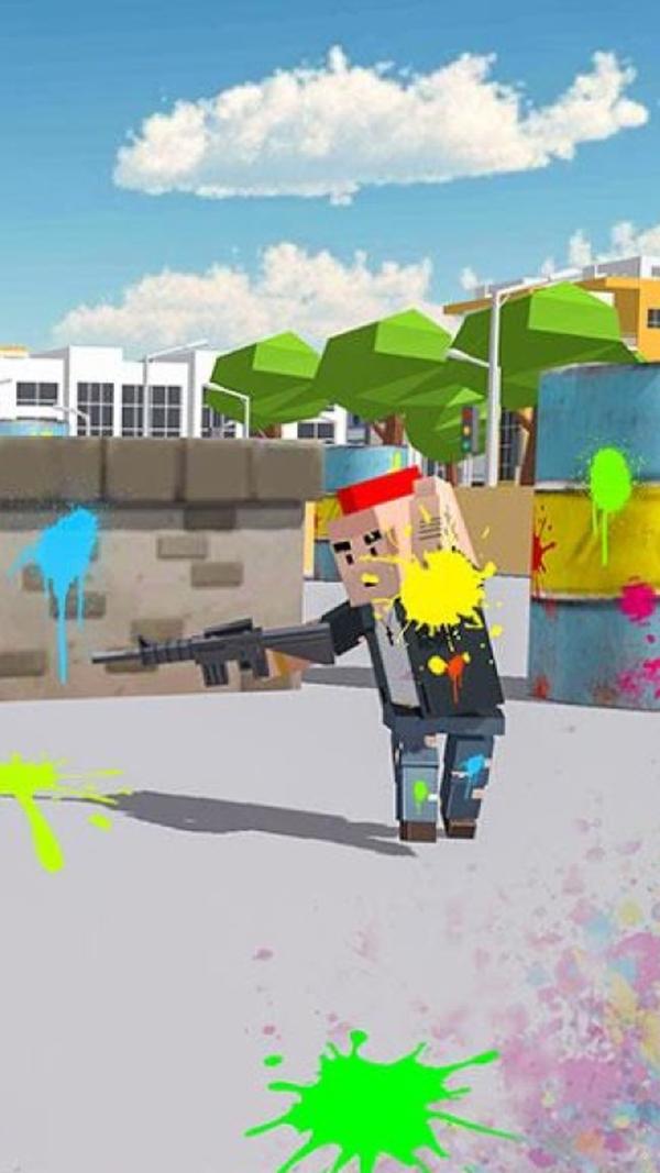 方块漆弹射击游戏图2