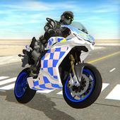 骑着摩托车的警察手机版